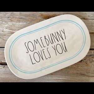 Rae Dunn Somebunny Loves You Platter